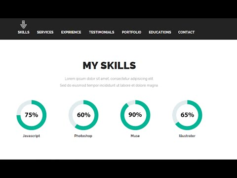 How To Edit My Skills Section Premium Adobe Muse Template