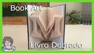 Folded Book Art using Photoshop. Arte feito de Paginas Dobradas.