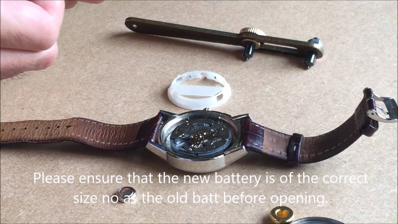 how to replace a fossil watch battery youtube