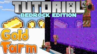 Gold Farm (Bedrock Edition) Minecraft Tutorial