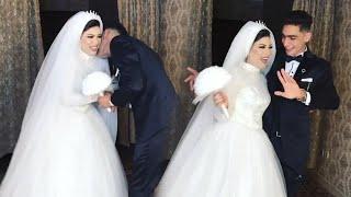 عريس وعروسه بيرقصوا على مهرجان ولع قلبي لما شفها ولع 😂 والعريس بيبوس عروسته 😂 ماشاء الله عليهم ❤️