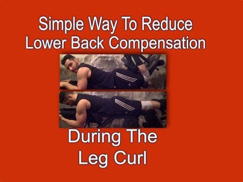 Simple Way To Reduce Lower Back Compensation During The Leg Curl
