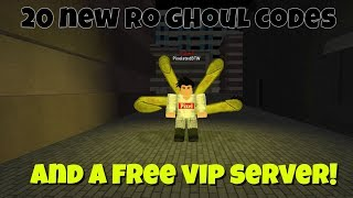 All ro ghoul codes and a free vip server roblox