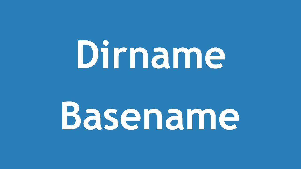php dirname