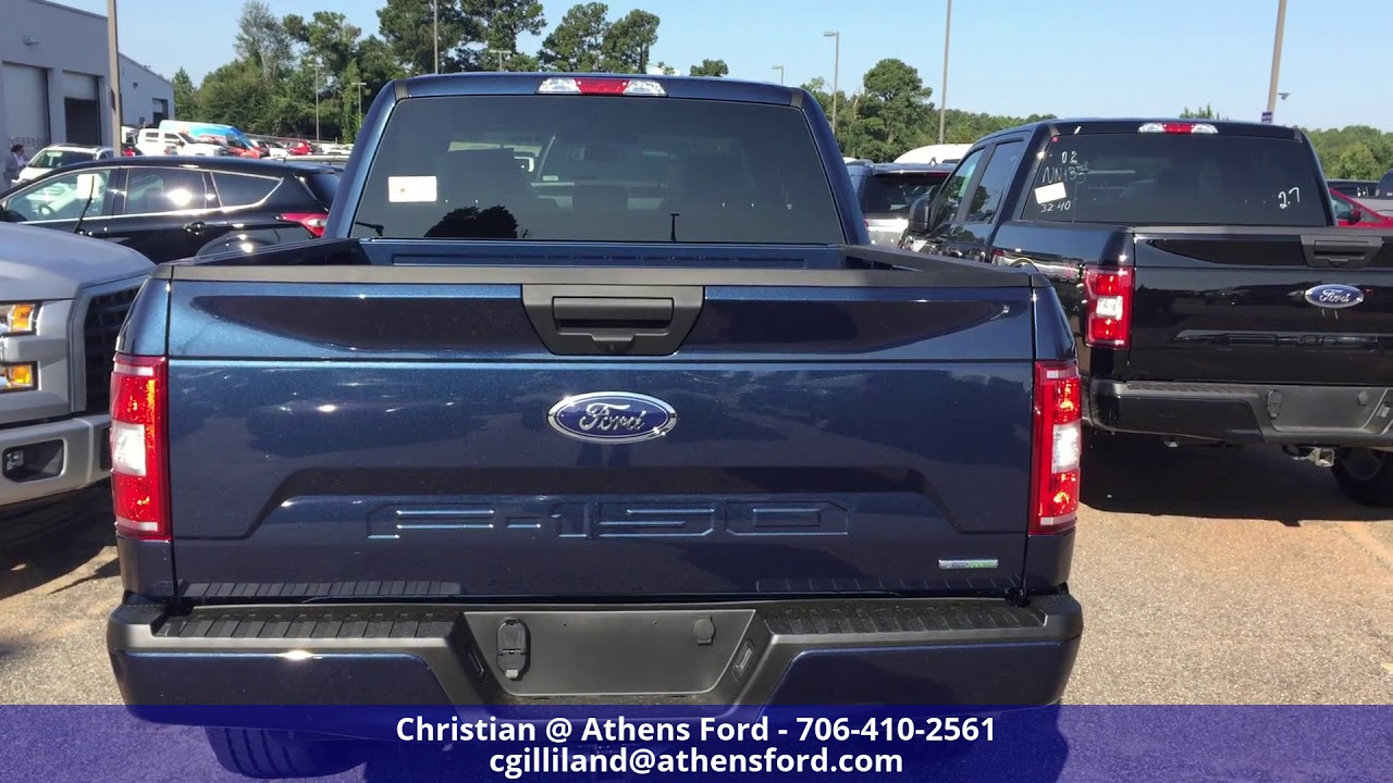 2018 ford f150 blue jean color exterior walk around