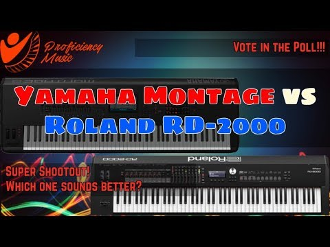 Yamaha Montage vs Roland RD-2000: Super Shootout! Which One