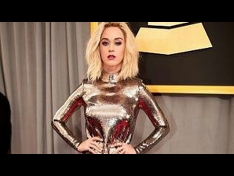 Singer Katy Perry on Her way to Grammy Awards
