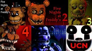 FNAF 1, 2, 3, 4, 5, 6, UCN Jumpscare Simulator | Five Nights at Freddy's