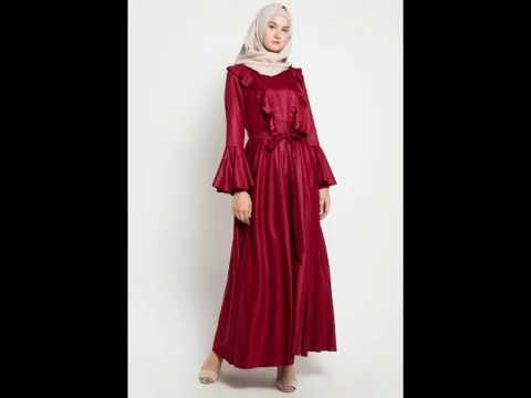 Aneka Model Baju Gamis Muslim Pesta Terbaru Dan Modern Youtube