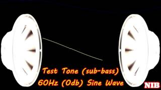 NIB - Test Tone(sub-bass) - 60Hz (0db) Sine Wave