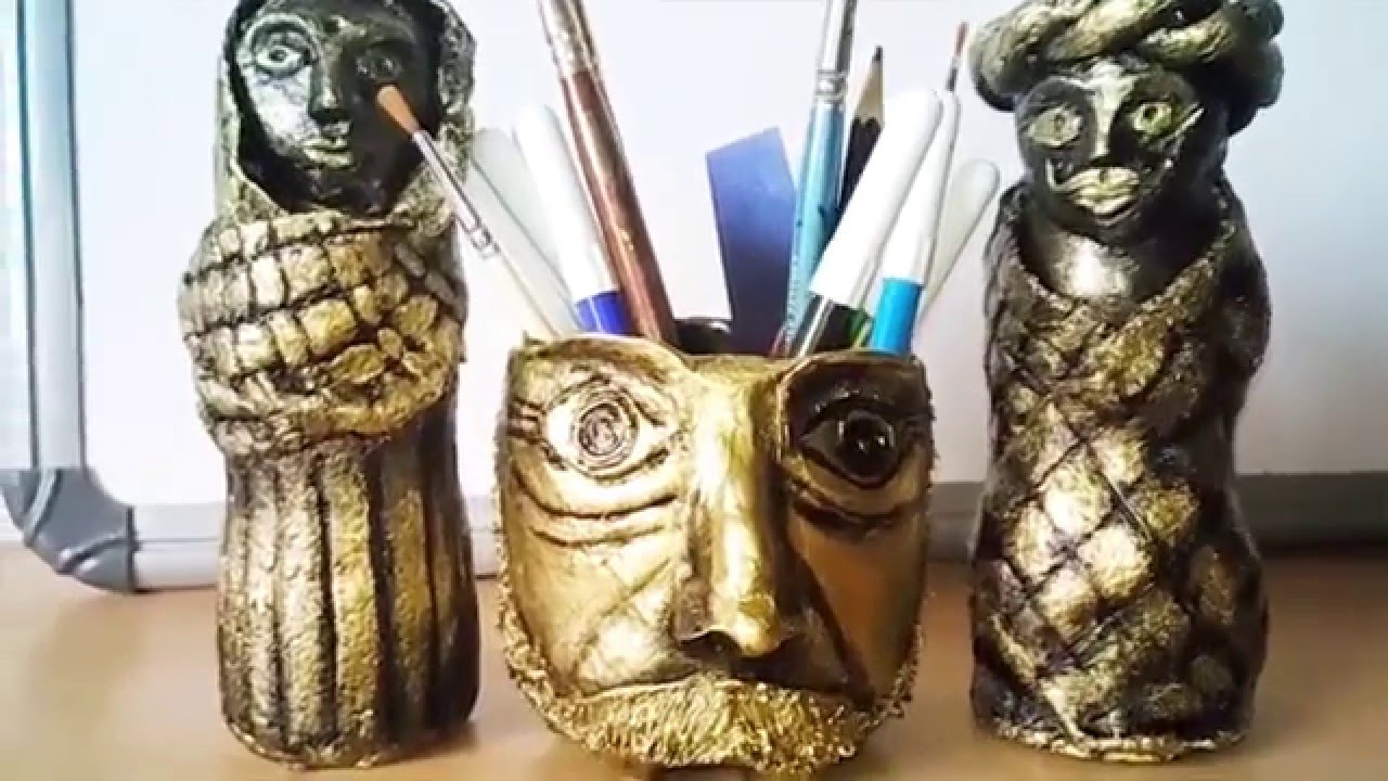 How To Make Paper Mache Clay Show Pieces Diy Ideas Youtube