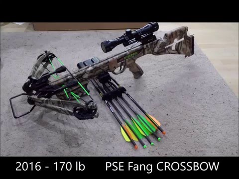 PSE Fang Crossbow Straight out of the box