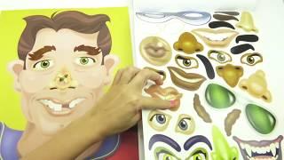 Развивающее видео для детей, клеим, учимся, раскрашиваем  Игровой набор для детей  Игрушкин ТВ