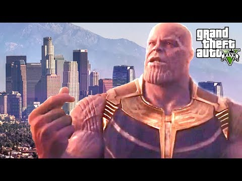 WHAT HAPPENS WHEN THANOS SNAPS HIS FINGERS? GTA 5 POPULATION