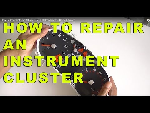 How To Repair Instrument Cluster DIY LCD | Speedometer | Gauge | Stepper