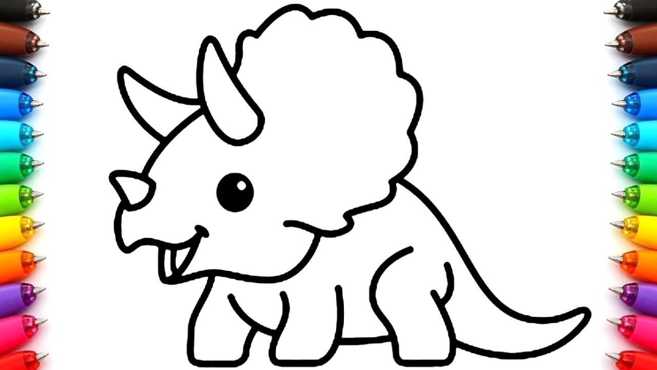 Dibujos Faciles De Dinosaurios Como Dibujar Un Dinosaurio Para Ninos Colorear Dibujos Para Pintar Youtube ✅ te dejamos una larga lista para colorearlos e imprimirlos con guias y ¿cómo dibujar y colorear dibujos animados de dinosaurios infantiles? dibujos faciles de dinosaurios como dibujar un dinosaurio para ninos colorear dibujos para pintar