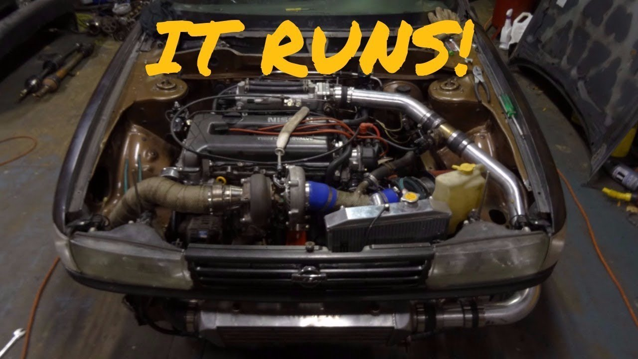 Big Turbo SR20 Swapped Sentra Is Done!