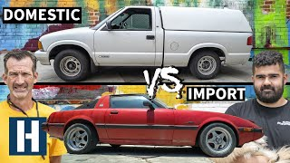 Build & Battle: Import vs Domestic, Mazda RX-7 vs Chevy S10 in a Drag Racing Faceoff EP.1