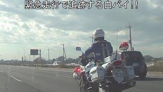 【超カッコイイ白バイ仕事人】横を猛スピードで抜いて行った車が白バイにピッタリ追跡されていて検挙された瞬間!