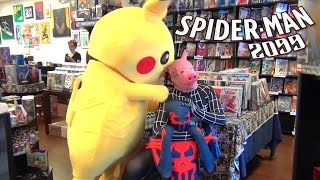 Spider-Man 2099 Antics Featuring Lady Deadpool, Pikachu, Spider-Pig & Jameson