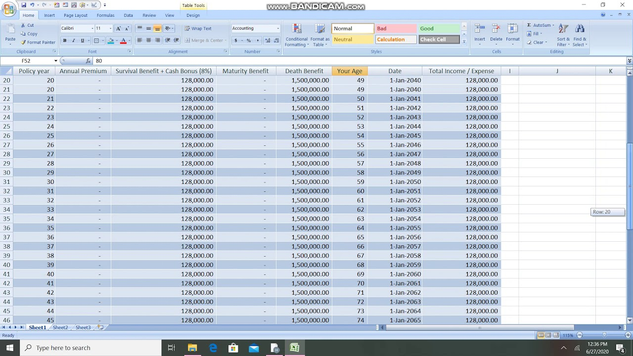 Calculate Internal Rate of Return on a long term Life ...