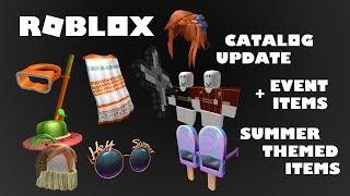 Roblox Catalog Update - Summer Themed Items I New Event (Free Shirts) I Roblox Random Talk Ep. 25