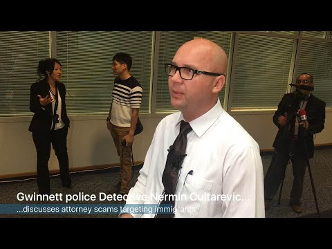 RAW: Gwinnett detective talks about immigrant attorney scams