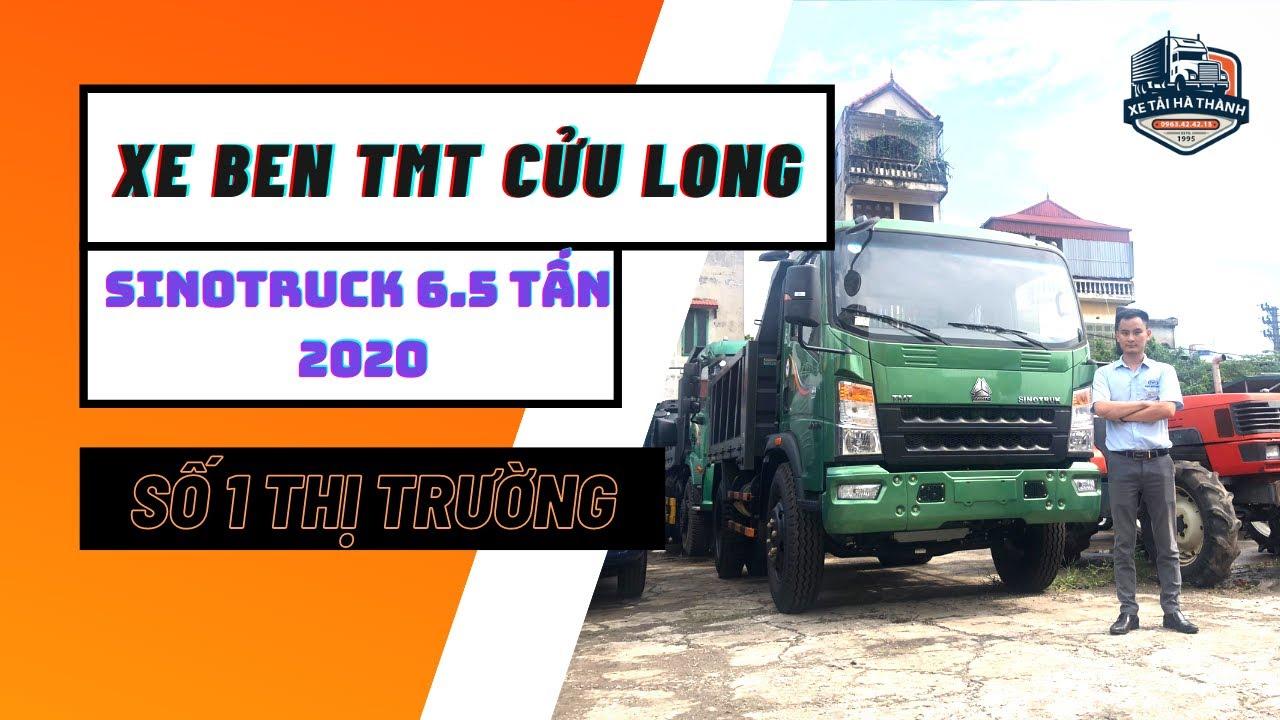 Xe ben TMT Cửu Long 6.5 tấn 2020|Xe ben Howo sinotruk 6.5 tấn ST8565D giá tốt nhất |Xe tải Hà Thành!