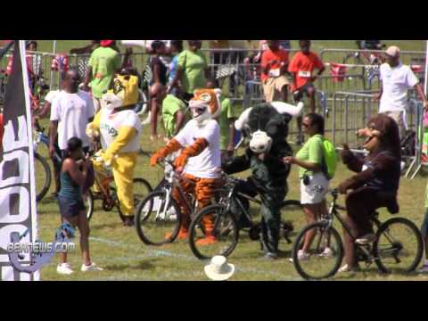 Mascot Race At Bermuda Police Gymkhana Oct 6 2012