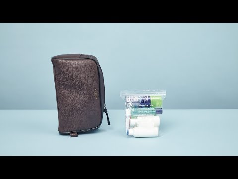 How to pack a travel wash bag | ASOS Menswear grooming tutorial