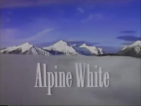 Nestles Alpine The White Chocolate Bar 1990 TV Commercial HD