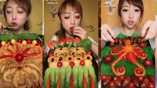 Eat eat eat challenge on tik tok..||beautiful girl eating sea food.|| Afsana mimi||