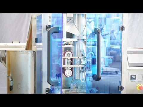Testing run for USA TX buyer Chemical powder 14oz bagging packing MC emballage de poudre ensachage