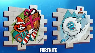 NEW FORTNITE FREE GRAFFITI! Fortnite's New Free Sprays [Winter Contest] Augustine R