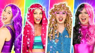 RAINBOW HAIR HACKS TRANSFORMATIONS WITH THE SUPER POPS. Totally TV Originals.