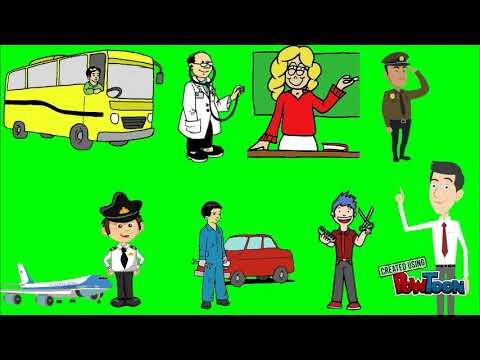Media Pembelajaran Animasi Jenis Jenis Pekerjaan Youtube