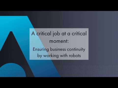 Ensuring business continuity by working with robots - Thales