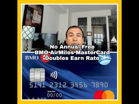 BMO No Annual Fee AIR Miles MasterCard Offers 2X Miles for Every $20