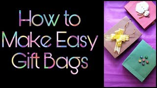 How to make a Gift bag from a Scrapbook- Easy DIY Gift bag