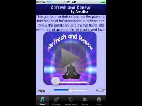 Refresh And Renew Guided Meditation App IPhone Demo