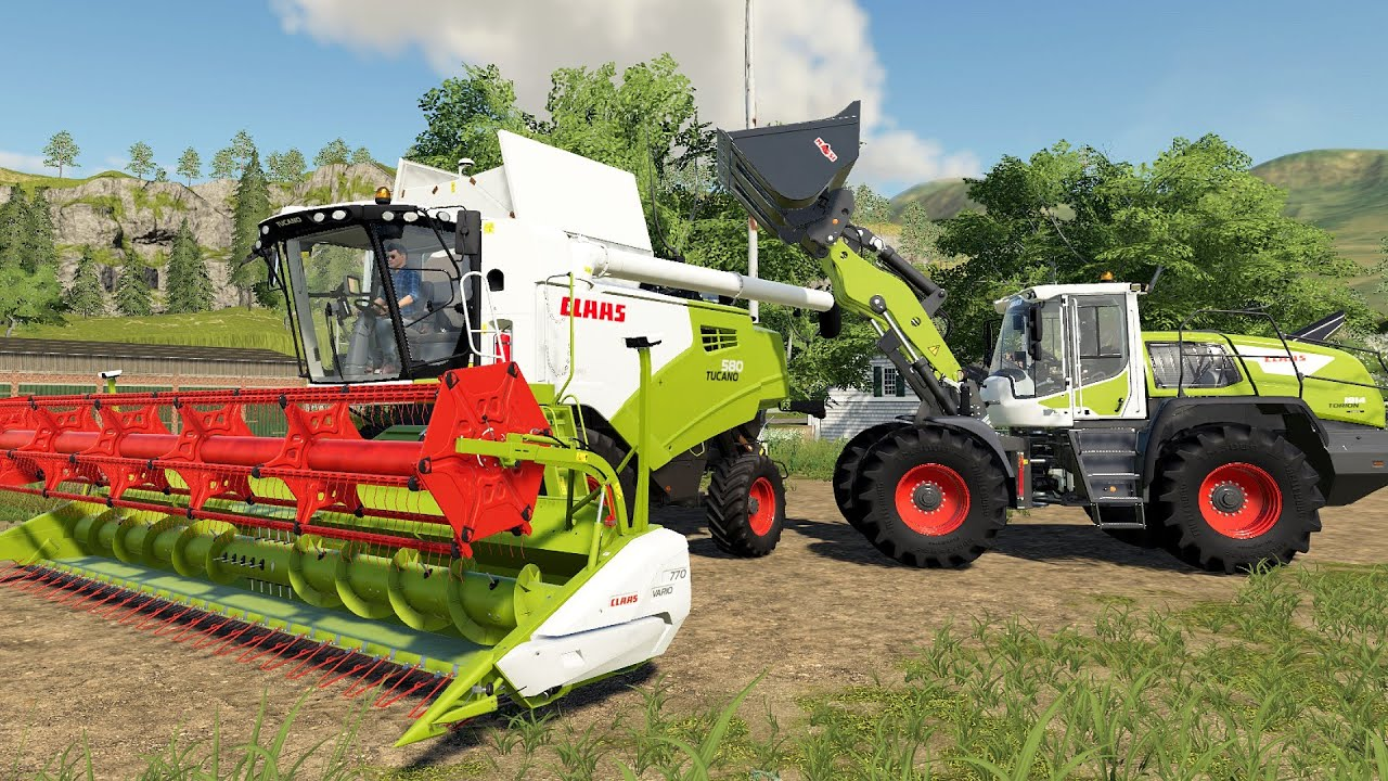 Claas Tucano 580 Combine And All Claas Tractors and Wheel Loaders |Wheeled and Tracked Vehicles ls19