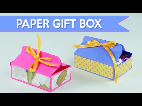 Easy DIY Gift Box - How to Make A Paper Gift Box
