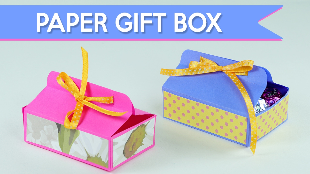 Easy DIY Gift Box - How to Make A Paper Gift Box - YouTube