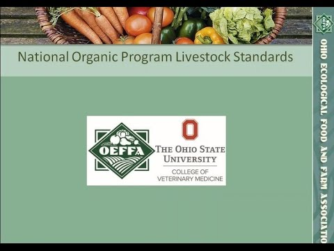 USDA National Organic Program Livestock Standards