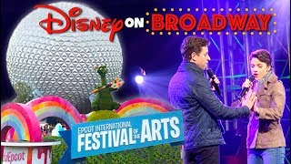 epcot international festival of the arts  disney on broadway