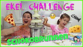 EKLIG!! WEIßER SCHOKOBRUNNEN CHALLENGE !!! 🍫 Chocolate Fountain Challenge 💕 Geschichten&Spielzeug