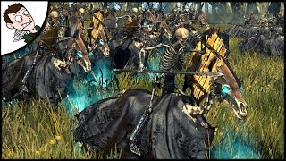 MASSIVE TOMB KINGS SURVIVAL BATTLE! Total War WARHAMMER Mod Gameplay