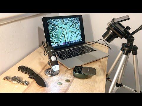 Pruebo MICROSCOPIO DIGITAL con objetos del día a día