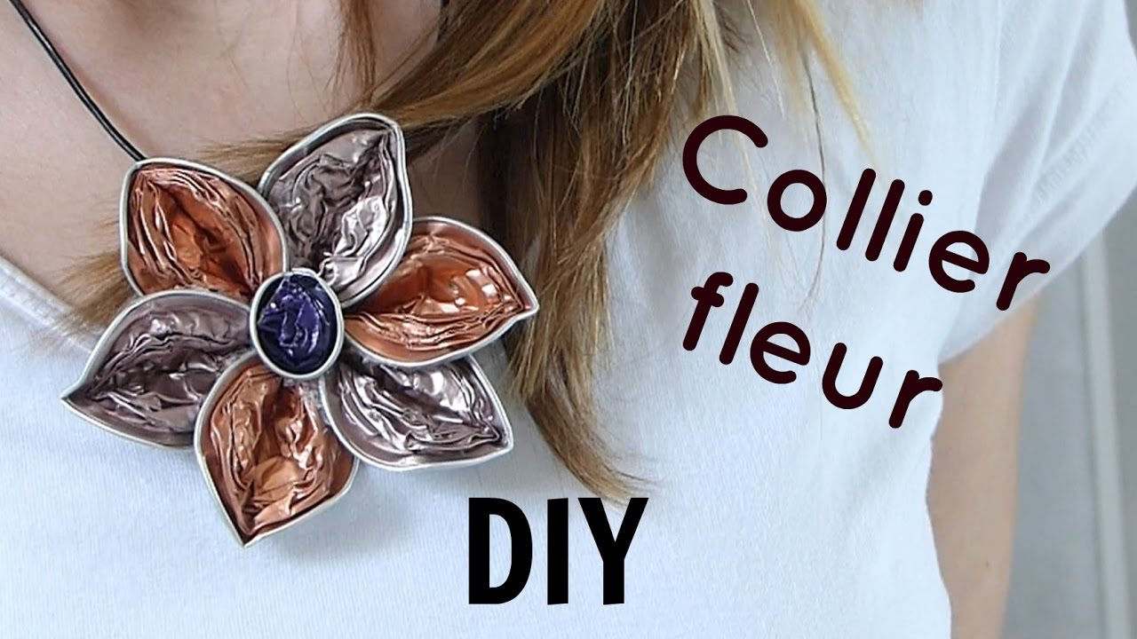 tutoriel n 10 diy collier fleur en capsules. Black Bedroom Furniture Sets. Home Design Ideas