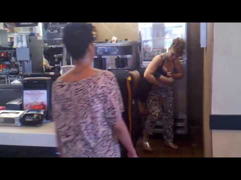 Trenton NJ - Girl fighting McDonalds Worker